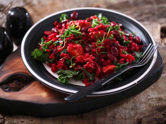 Rotes Risotto mit Kidneybohnen