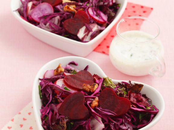 Rotkohl-Rote Bete-Salat