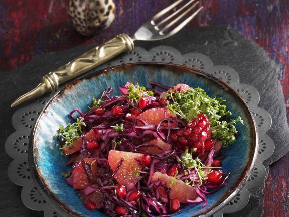 Rotkrautsalat mit Granatapfelkernen