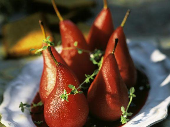 Rotweinbirnen