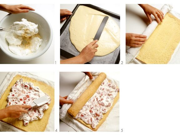 Roulade Mit Erdbeer Sahne Fullung Rezept Eat Smarter