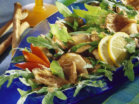 Rucolasalat mit Austernpilzen