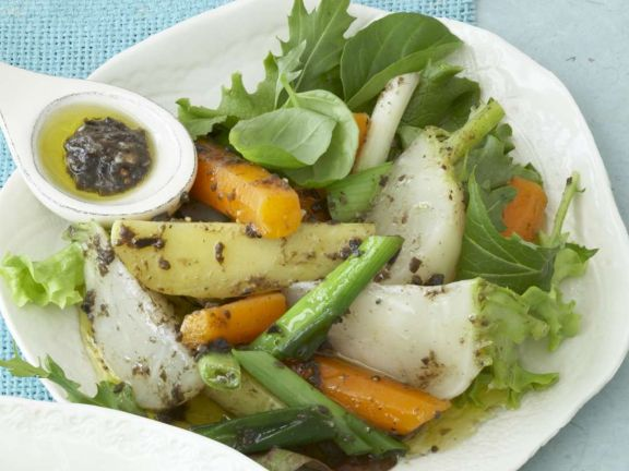 Rübchensalat mit Karotten