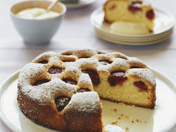 Rührkuchen mit Erdbeeren