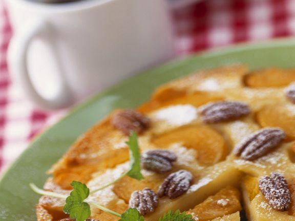 Rührkuchen mit Pfirsichen