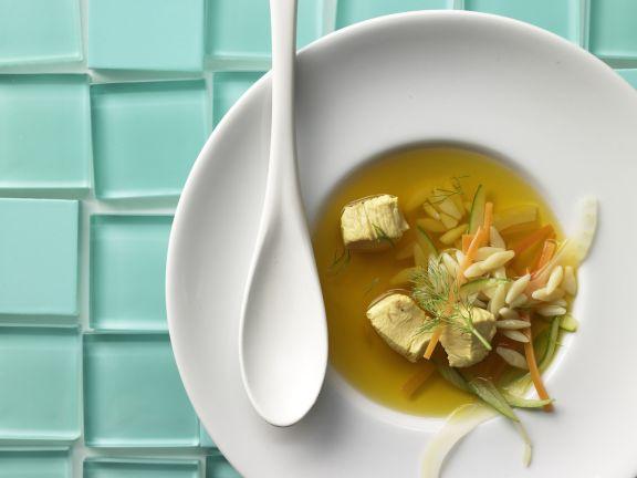 Safran-Gemüse-Suppe