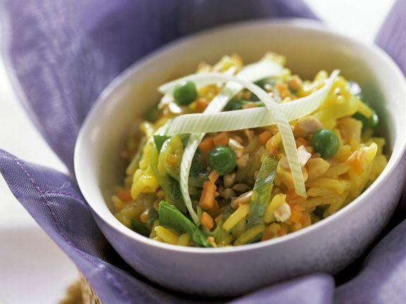 Safranreis mit Gemüse