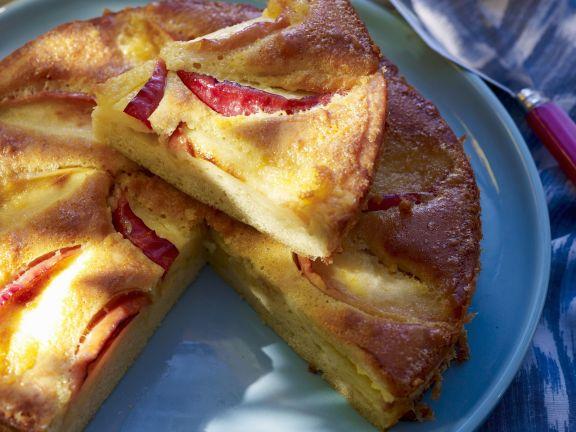 Saftiger Apfelkuchen mit Calvados