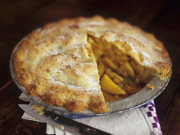 Saftiger gedeckter Apfelkuchen