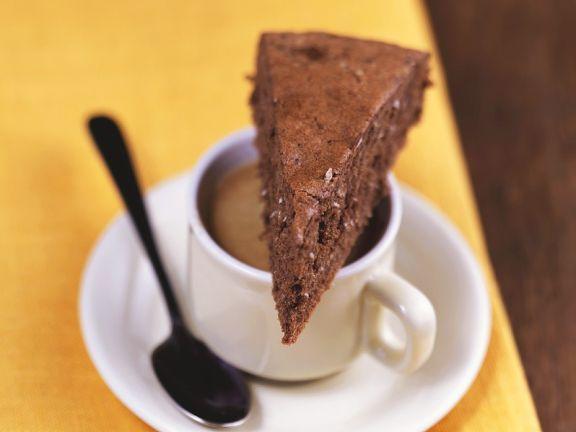 Saftiger Schokokuchen mit Espresso und Kokos
