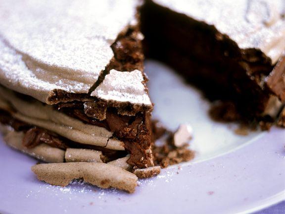 Saftiger Schokoladenkuchen mit wenig Mehl