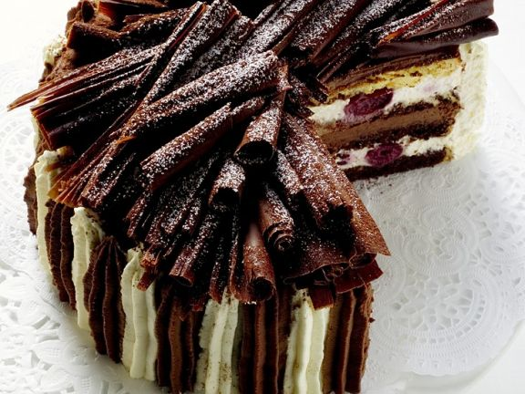 Sahne Schoko Kirsch Torte Rezept Eat Smarter