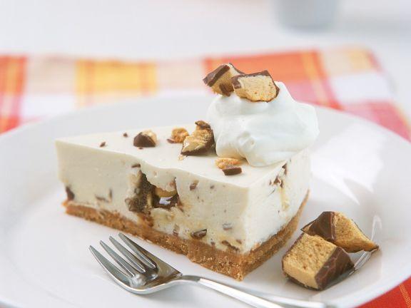 Sahnekuchen mit Erdnussriegeln