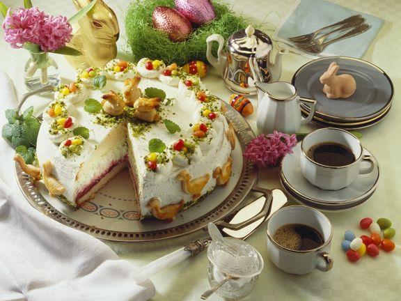 Sahnetorte zu Ostern