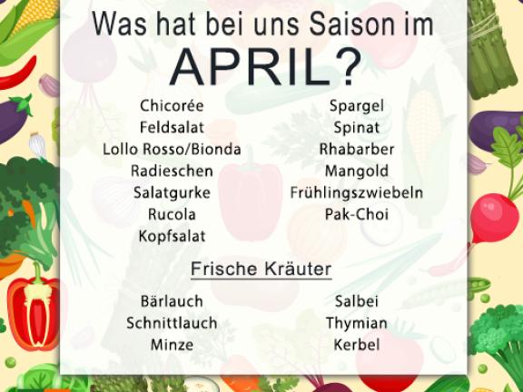 Was hat Saison im April?