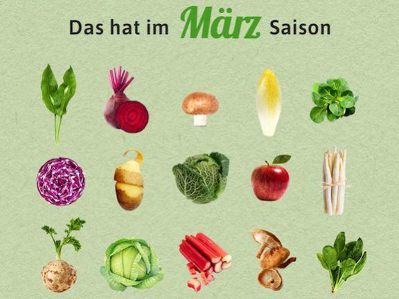 Saisonkalender März