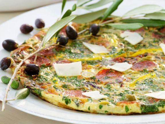 Salami-Omelett