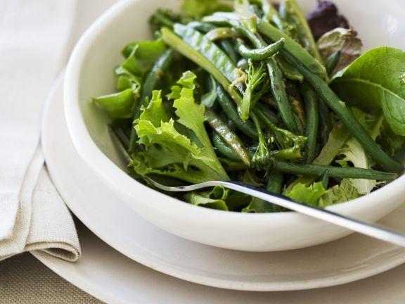 Salat aus grünen Bohnen