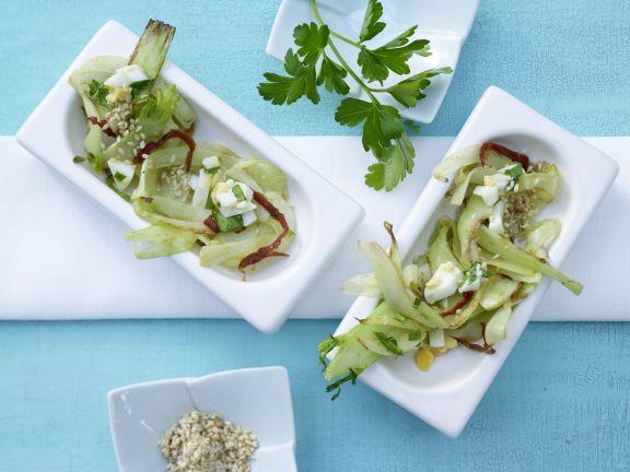 Salat von gebratenem Fenchel