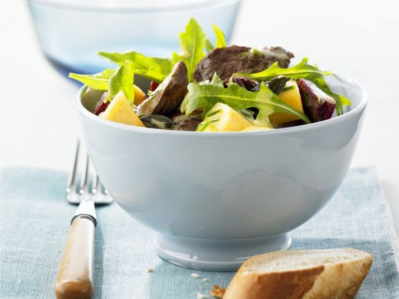 Salat mit Ente und Honig-Orangen-Vinaigrette