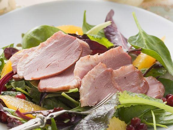 Salat mit Ente und Orangen