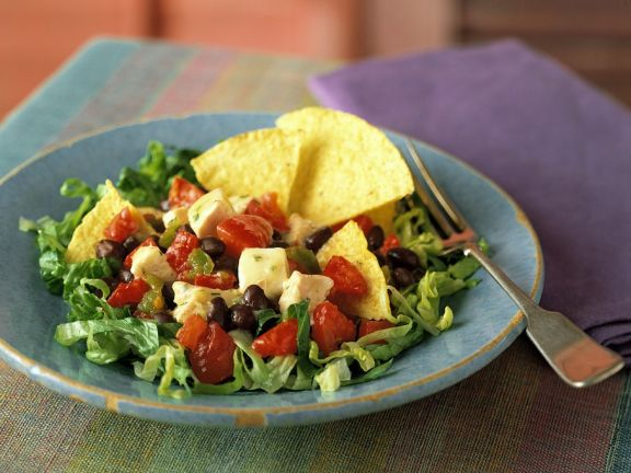Salat mit Hähnchenbrust