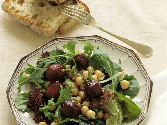 Salat Mit Kichererbsen Und Roter Bete Rezept Eat Smarter