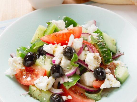 Salat mit Tomaten und Feta (Griechenland)