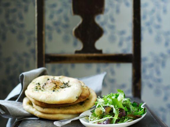 Salat und Focaccia