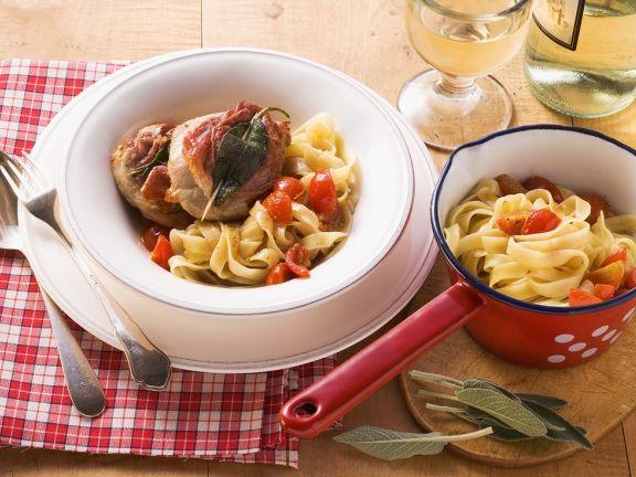 Saltimbocca mit Pasta