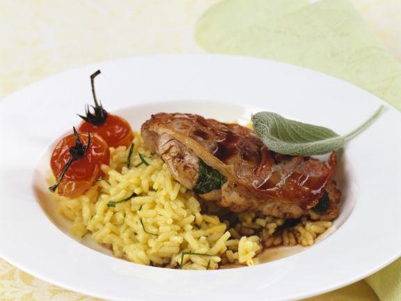 Saltimbocca mit Reis