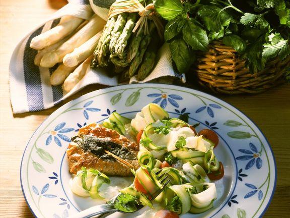 Saltimbocca mit Spargelsalat