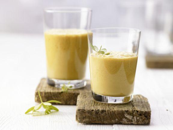 Sanddorn-Kefir-Drink