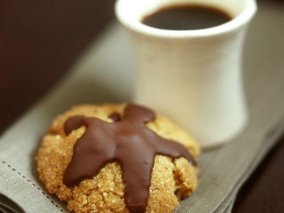 Sandkekse mit Schokolade