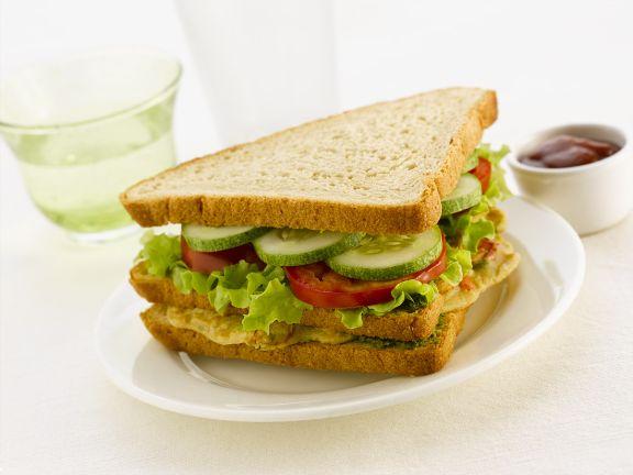 Sandwich mit Hähnchen