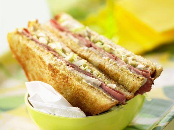 Sandwich mit Pastrami