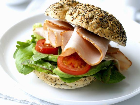 Sandwich mit Truthahnaufschnitt