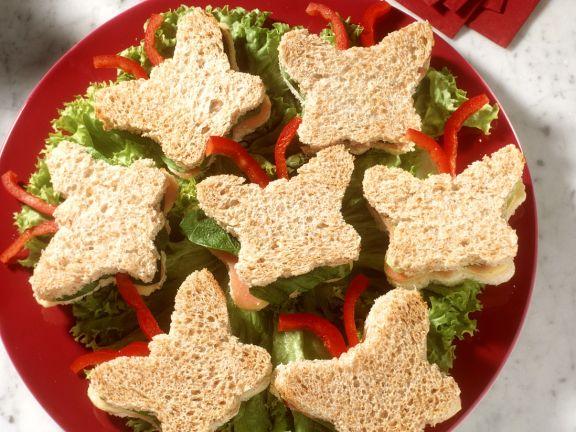 Sandwiches mit Räucherlachs