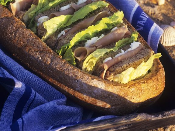 Sandwiches mit Schinken