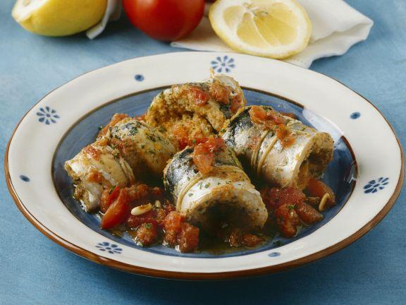 Sardinenrouladen mit Tomatensugo