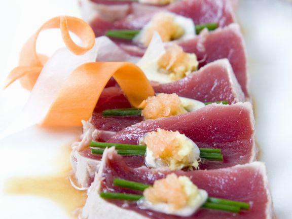 Sashimi vom Thunfisch