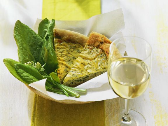 Sauerampfer-Quiche