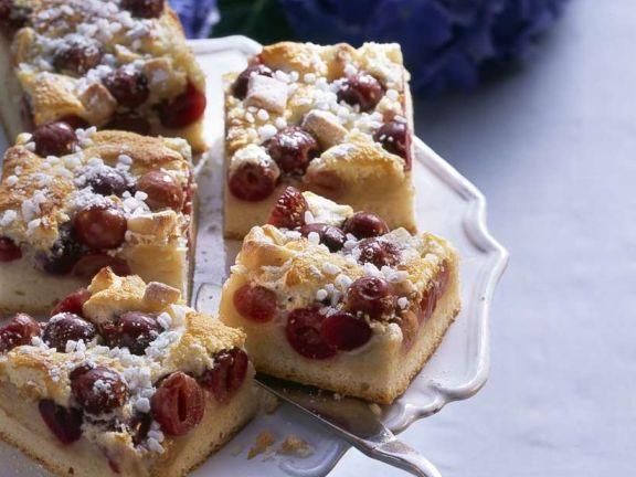 Sauerkirsch-Blechkuchen