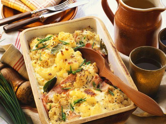 Sauerkraut Kartoffel Auflauf Mit Kasseler Rezept Eat Smarter