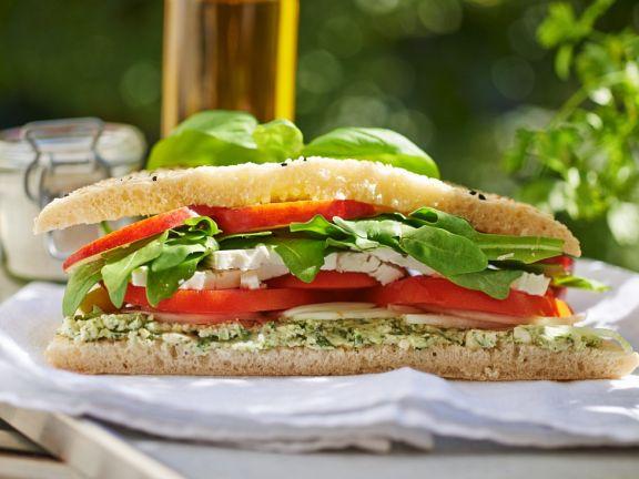Schafskäse-Sandwich