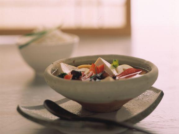 Scharf-saure Miso-Suppe