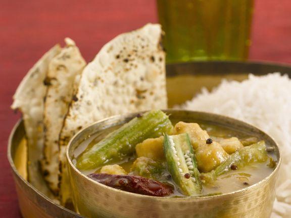 Scharfe Gemüsesuppe mit Tamarinde