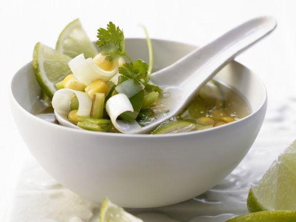 Scharfe Maissuppe
