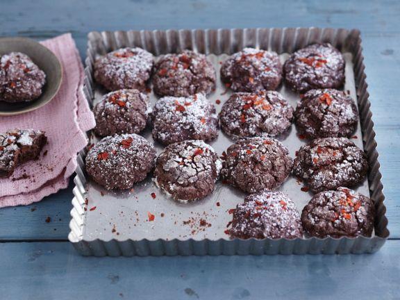 Scharfe Schoko-Cookies