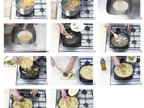Scharfe Spaghetti